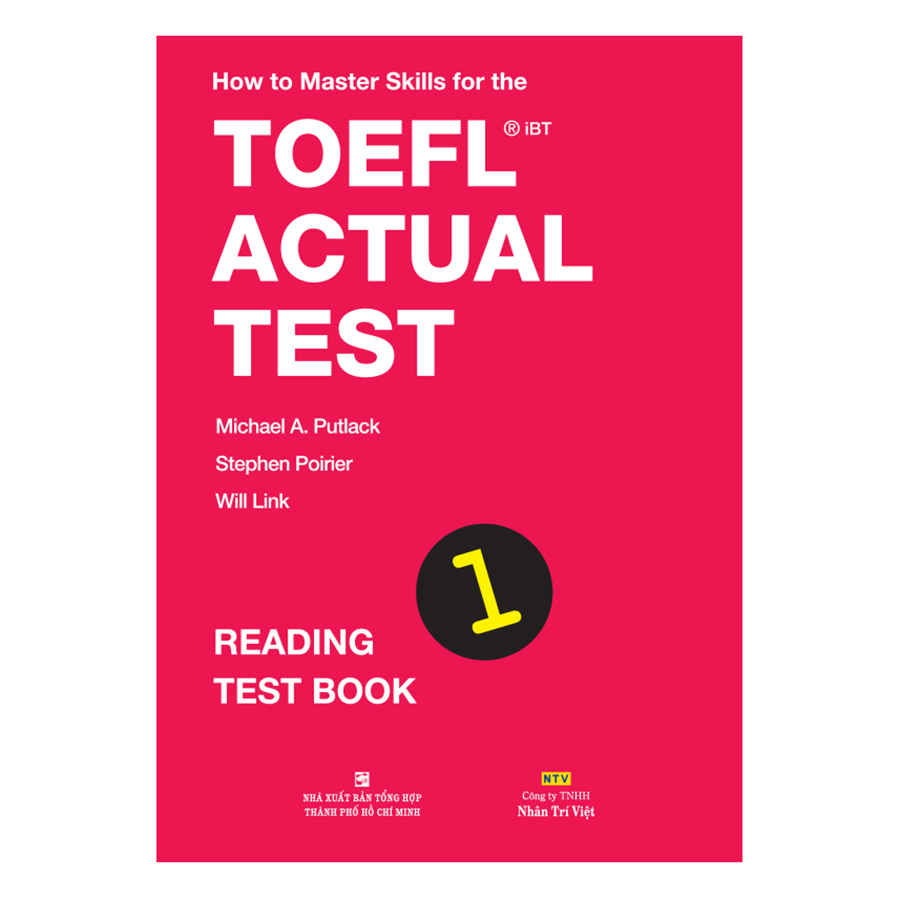 Bìa sách How To Master Skills For The TOEFL iBT Actual Test: Reading Test Book 1
