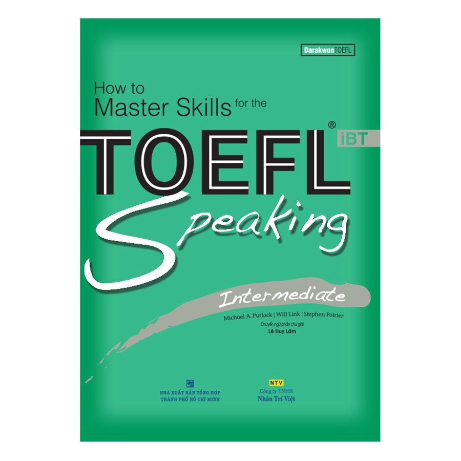 Bìa sách How To Master Skills For The TOEFL iBT: Speaking Intermediate