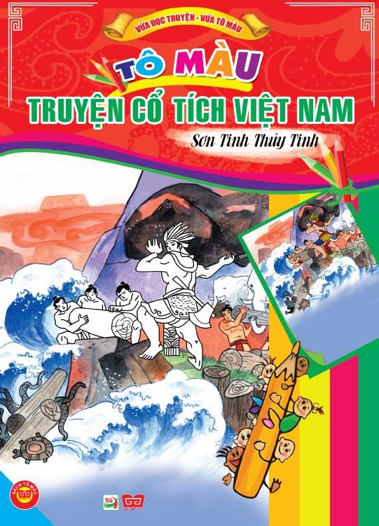 Review sách Tô Màu Truyện Cổ Tích Việt Nam – Sơn Tinh Và Thủy Tinh