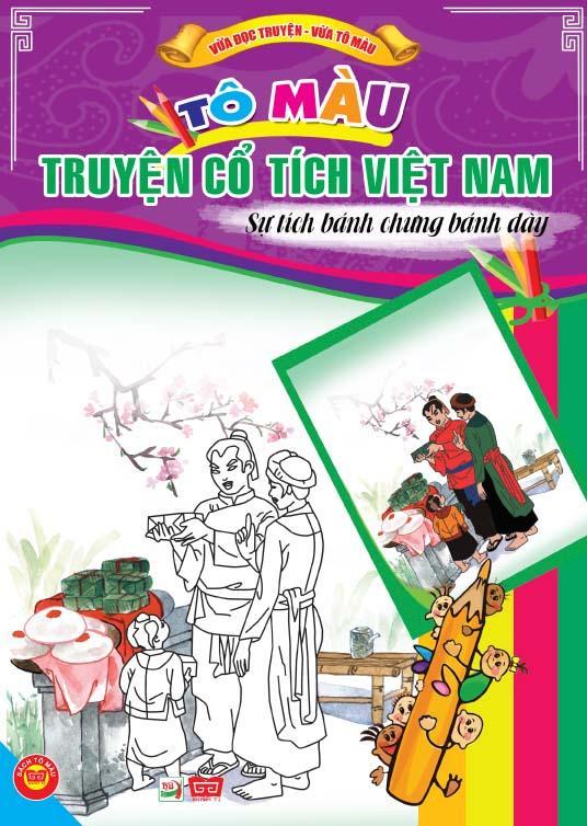 Review sách Tô Màu Truyện Cổ Tích Việt Nam – Sự Tích Bánh Trưng Bánh Dày