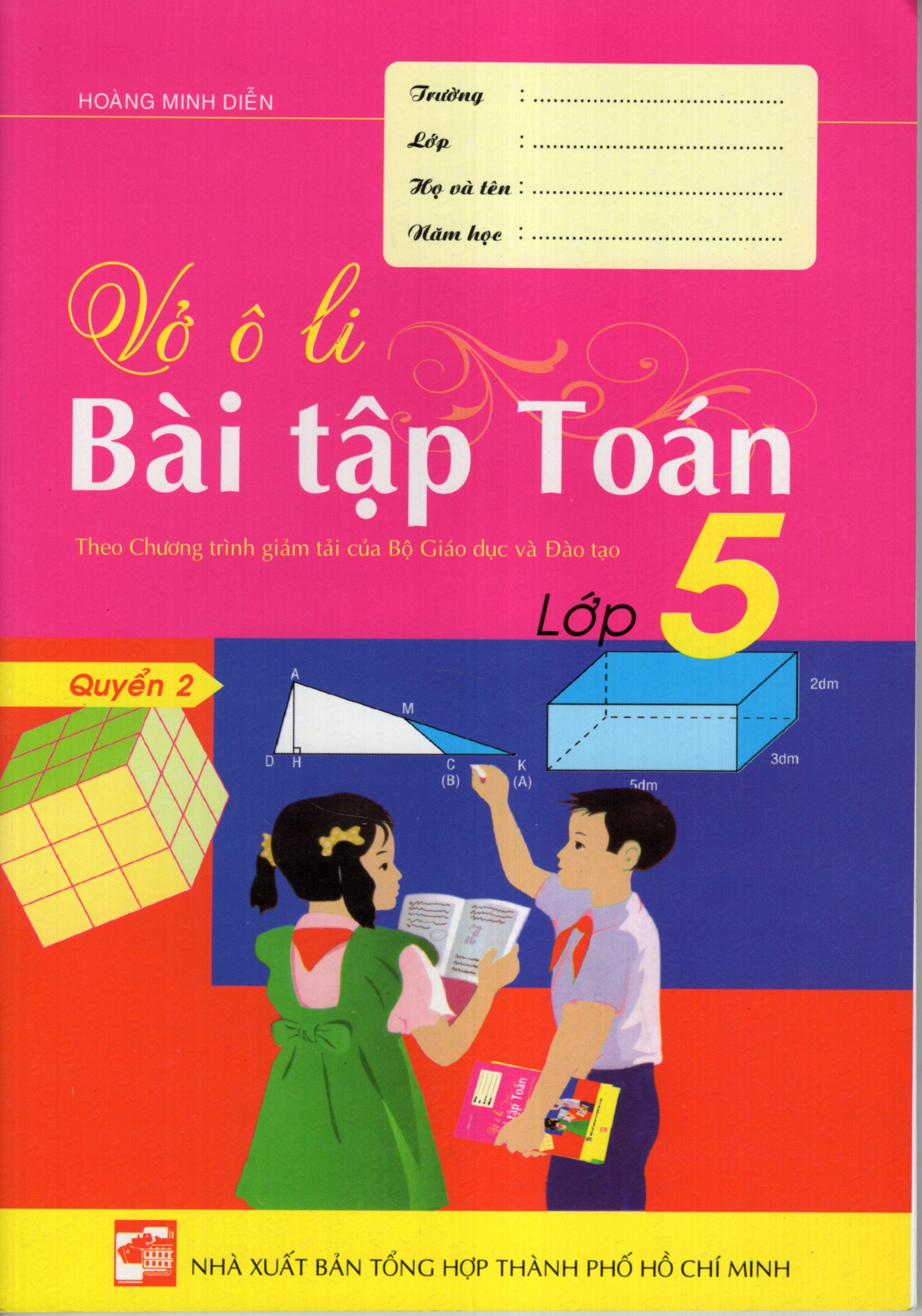 Bìa sách Vở Ô Li Bài Tập Toán Lớp 5 (Quyển 2)