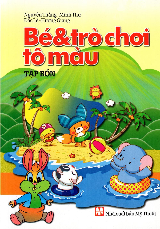 Bìa sách Bé  Trò Chơi Tô Màu (Tập 4)