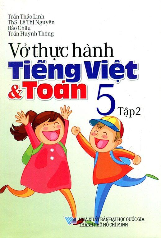 Bìa sách Vở Thực Hành Toán - Tiếng Việt Lớp 5 (Tập 2) (2015)