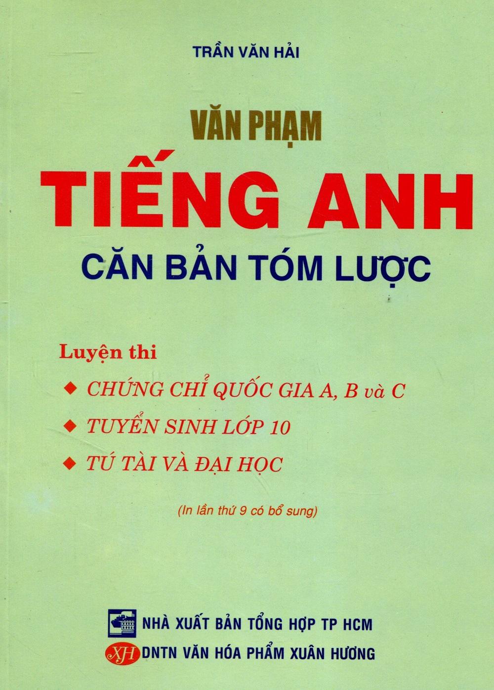 Bìa sách Văn Phạm Tiếng Anh Căn Bản Tóm Lược