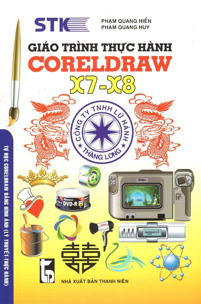 Bìa sách Giáo Trình Thực Hành Corel Draw X7-X8