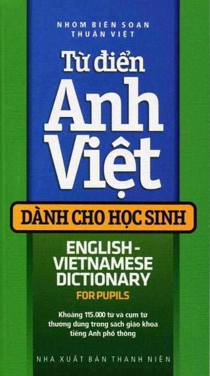 Bìa sách Từ Điển Anh Việt Dành Cho Học Sinh