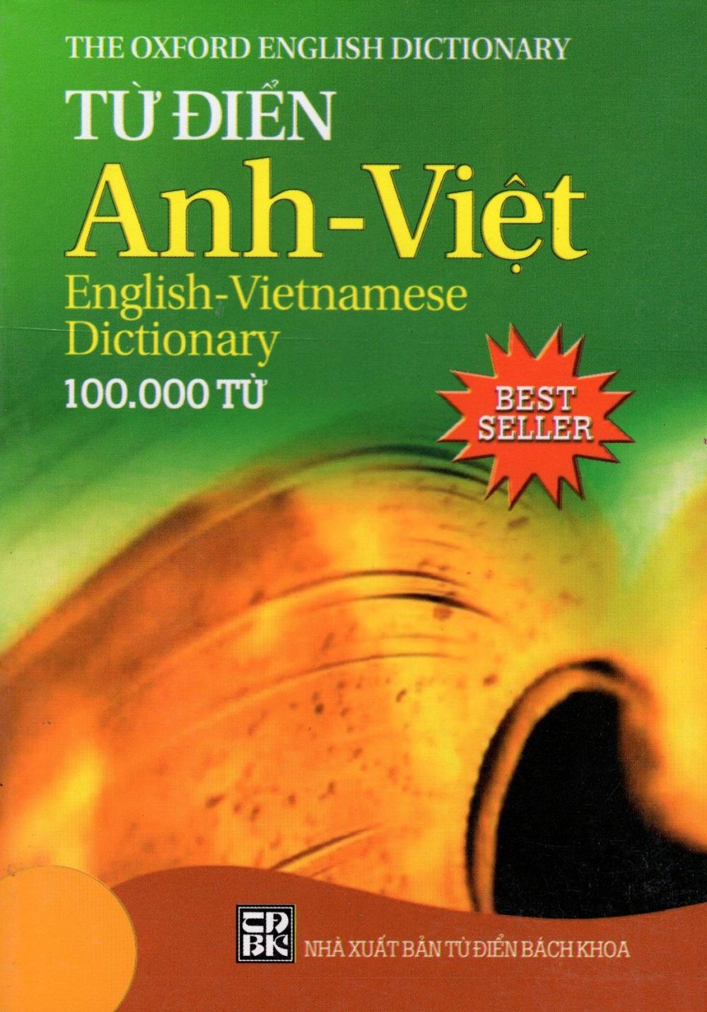 Bìa sách Từ Điển Anh - Việt (100.000 Từ - Best Seller) - Sách Bỏ Túi
