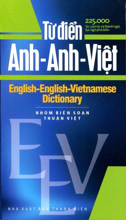 Bìa sách Từ Điển Anh - Anh - Việt  225.000 Từ