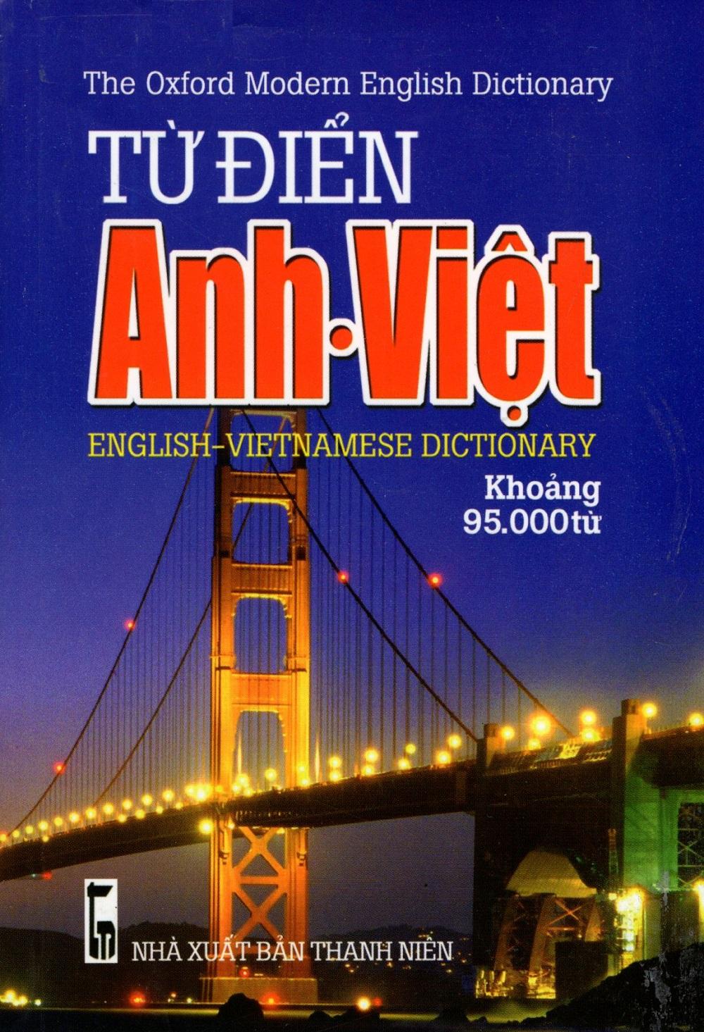 Bìa sách Từ Điển Anh - Việt (Khoảng 95.000 Từ - 2016) - Sách Bỏ Túi