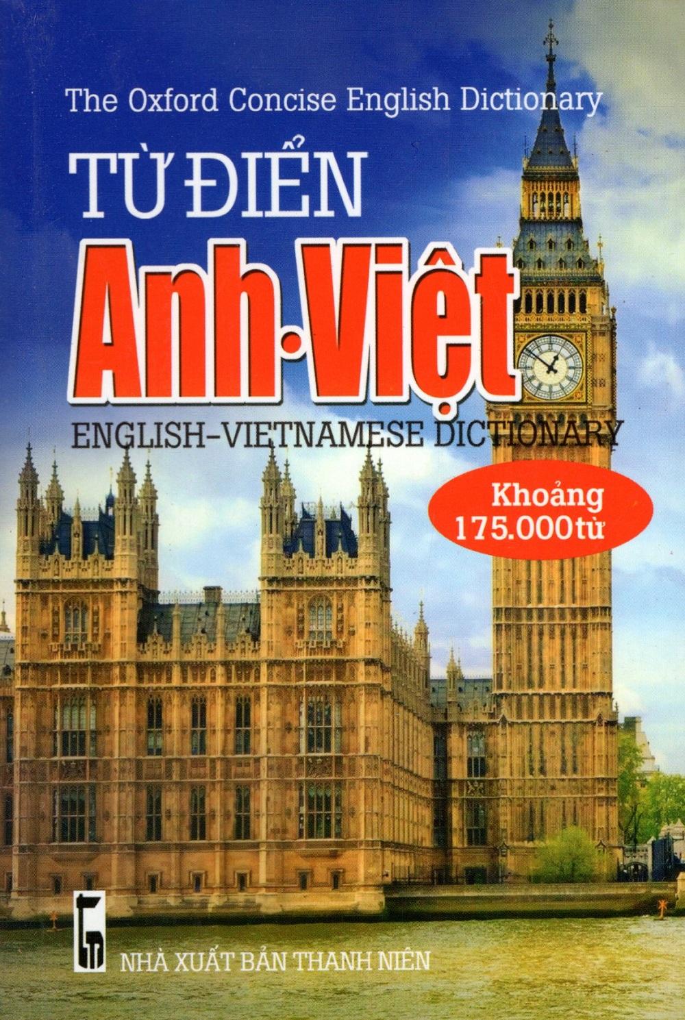 Bìa sách Từ Điển Anh - Việt (Khoảng 175.000 Từ - 2016) - Sách Bỏ Túi