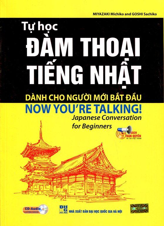 Bìa sách Tự Học Đàm Thoại Tiếng Nhật Dành Cho Người Mới Bắt Đầu (Kèm CD)