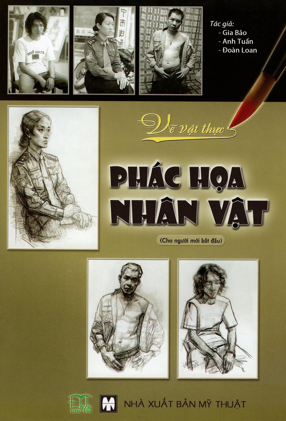 Bìa sách Vẽ Vật Thực - Phác Họa Nhân Vật (Cho Người Mới Bắt Đầu)