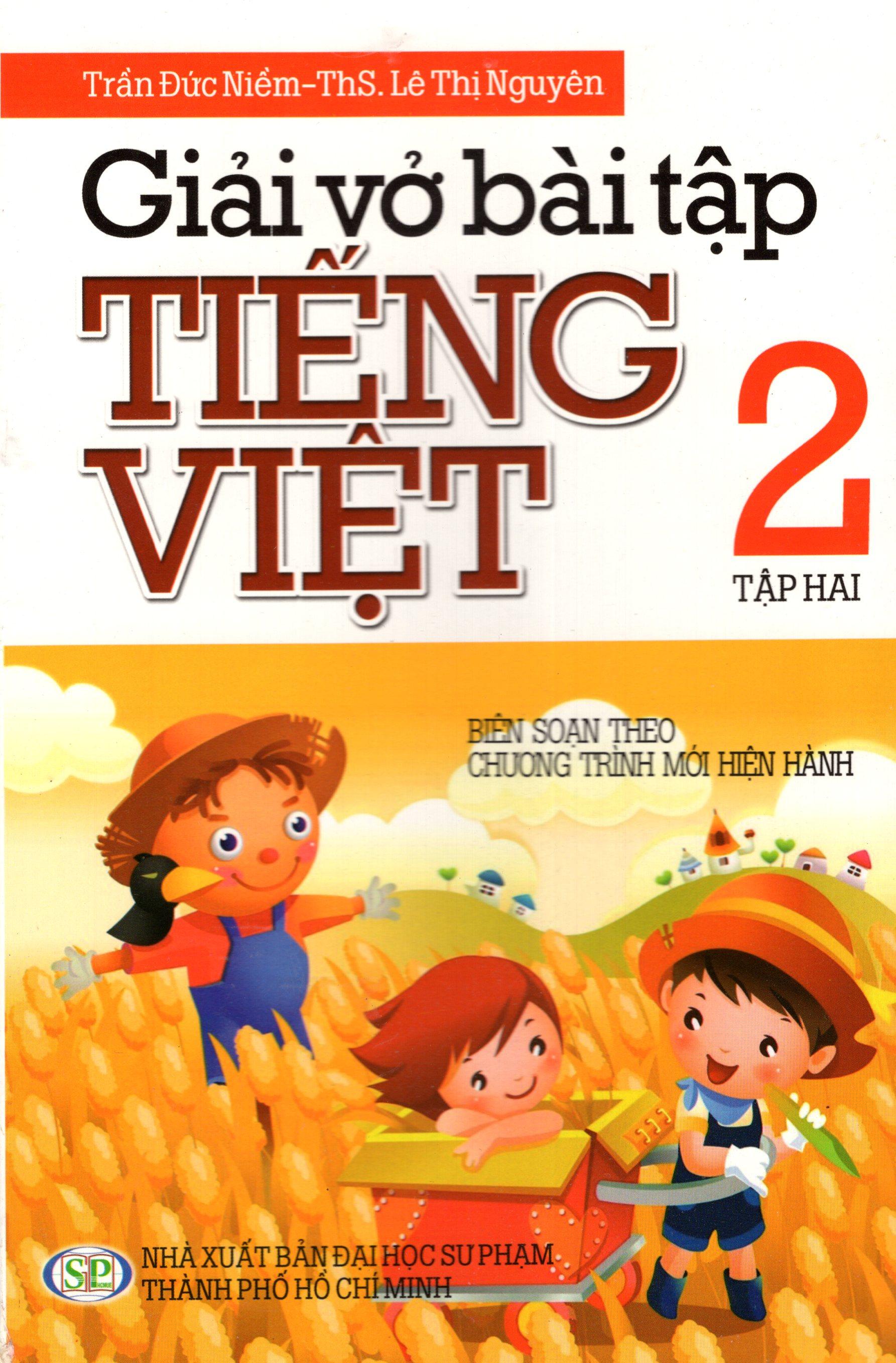 Bìa sách Giải Vở Bài Tập Tiếng Việt Lớp 2 (Tập 2) (Minh Trí)