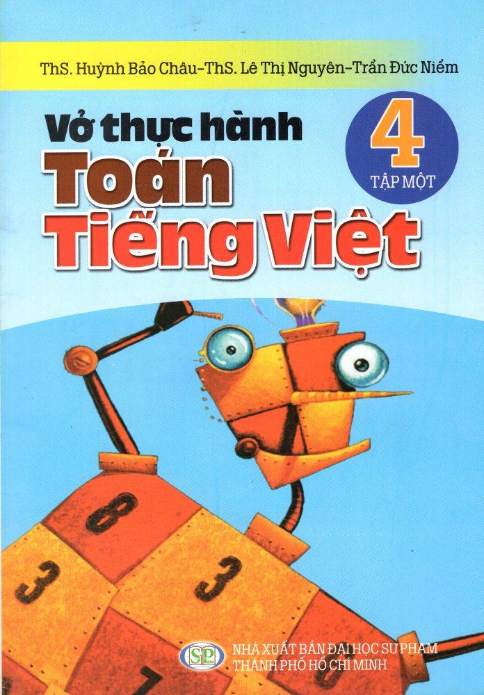 Bìa sách Vở Thực Hành Toán - Tiếng Việt Lớp 4 (Tập 1)