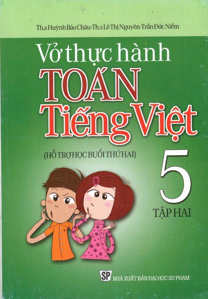 Bìa sách Vở Thực Hành Toán - Tiếng Việt Lớp 5 (Tập 2)