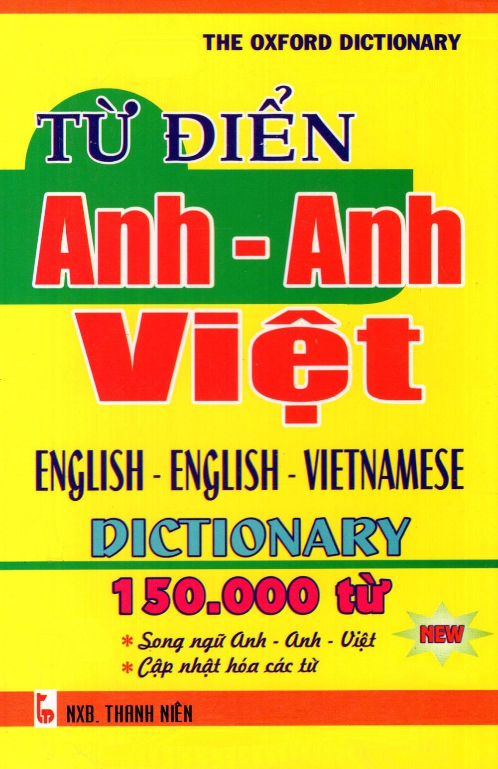 Bìa sách Từ Điển Anh - Anh - Việt (150.000 Từ) - Sách Bỏ Túi