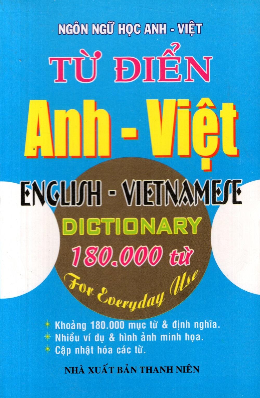 Bìa sách Từ Điển Anh - Việt (180.000 Từ) - Sách Bỏ Túi
