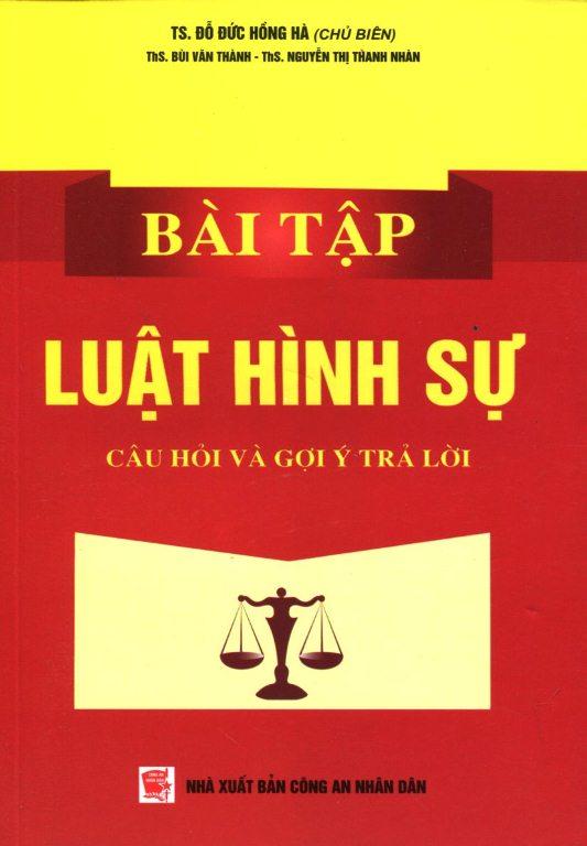 Bìa sách Bài Tập Luật Hình Sự - Câu Hỏi Và Gợi Ý Trả Lời