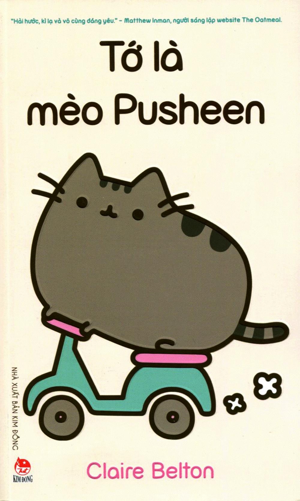 Bìa sách Tớ Là Mèo Pusheen