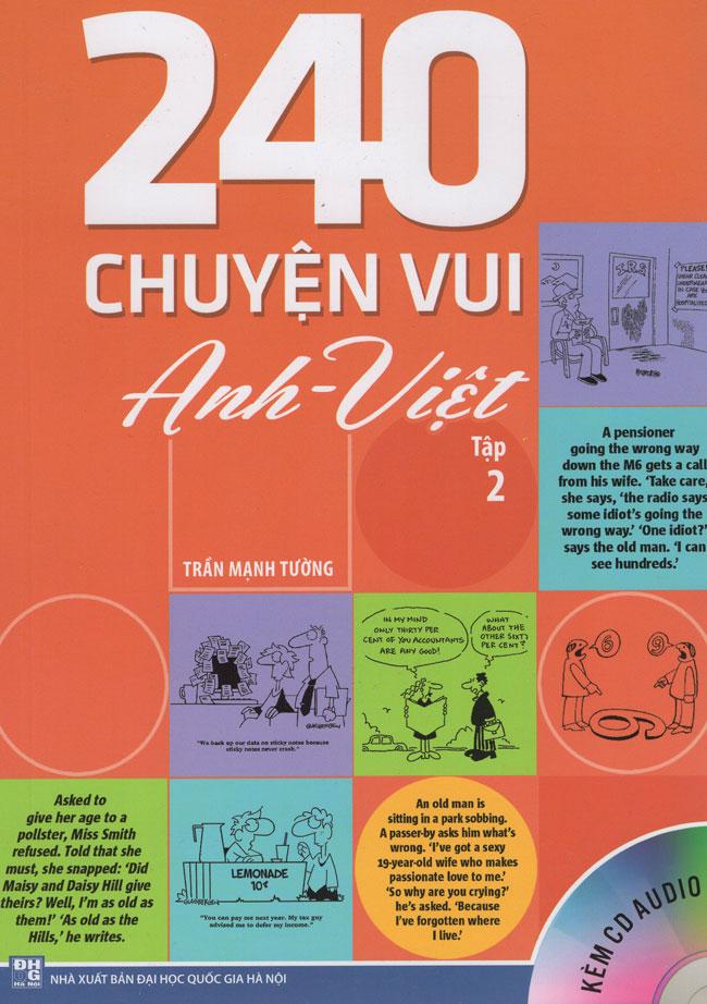 Bìa sách 240 Chuyện Vui Anh - Việt (Tập 2) - Kèm CD