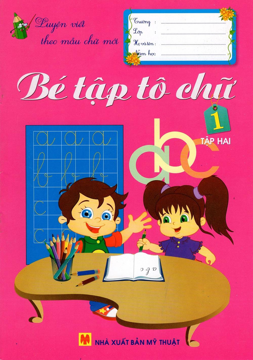 Bìa sách Bé Tập Tô Chữ Lớp 1 (Tập Hai)