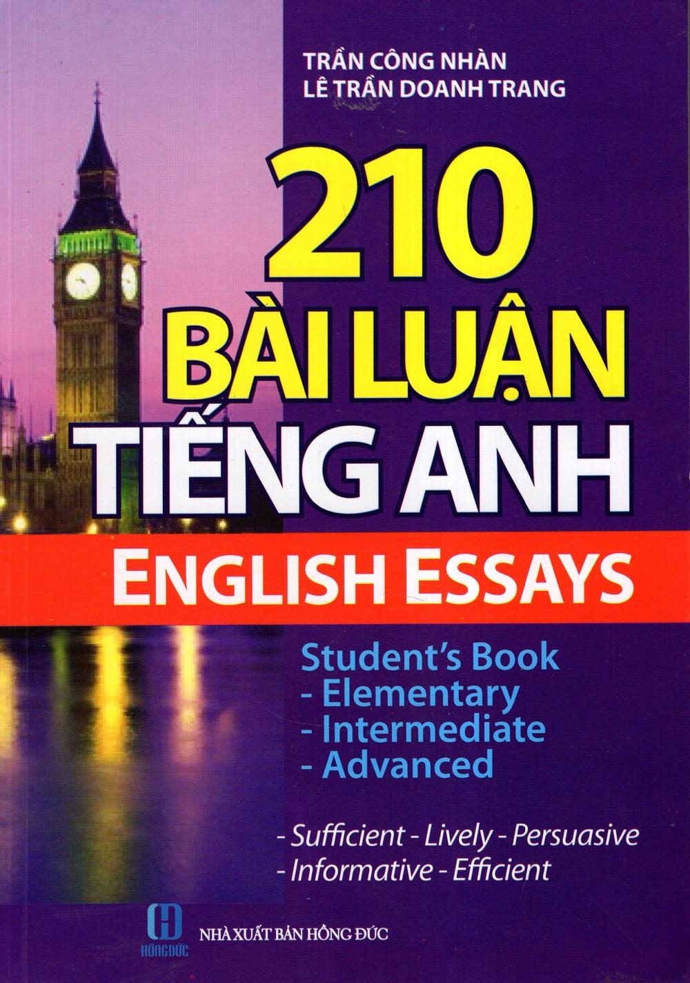 Bìa sách 210 Bài Luận Tiếng Anh (Không Kèm CD)