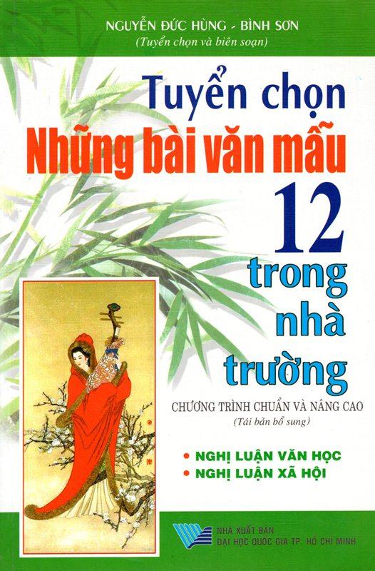 Bìa sách Tuyển Chọn Những Bài Văn Mẫu 12 Trong Nhà Trường