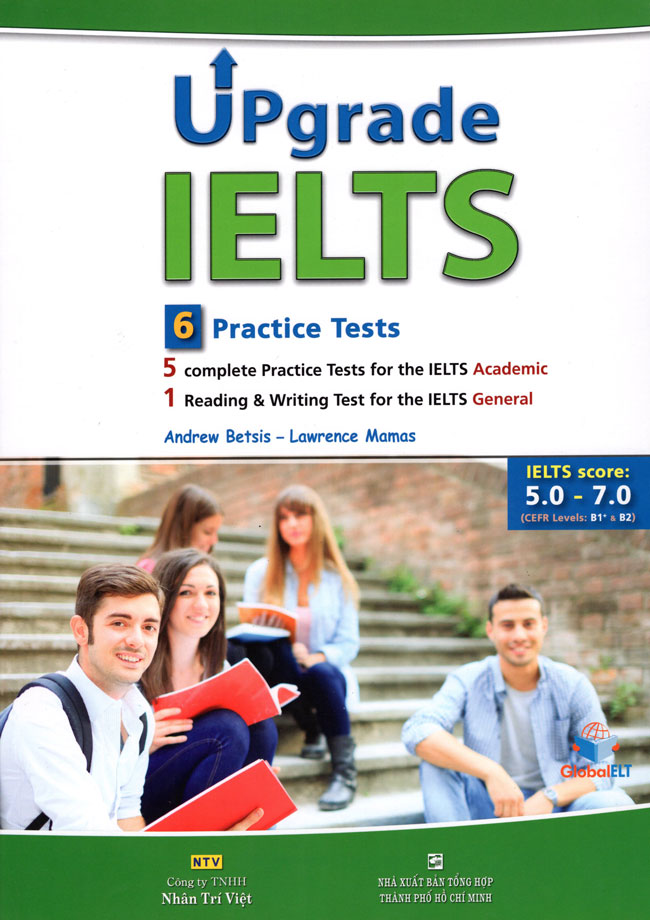 Bìa sách Upgrade IELTS: 6 Practice Tests (Kèm CD)