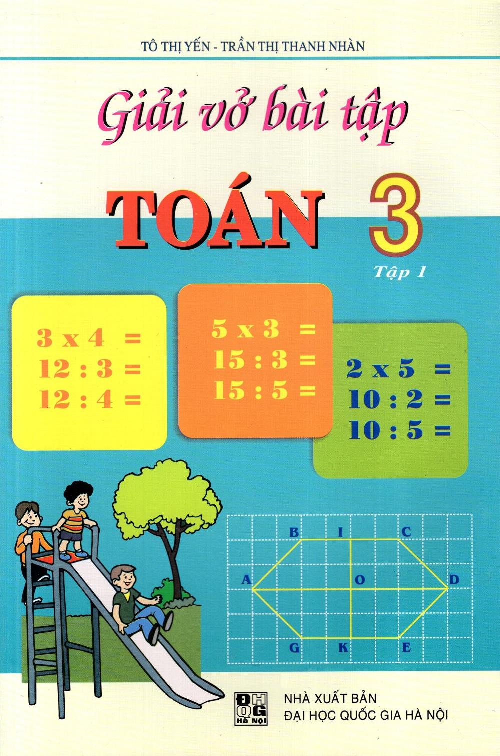 Bìa sách Giải Vở Bài Tập Toán Lớp 3 (Tập 1) (Đức Trí)