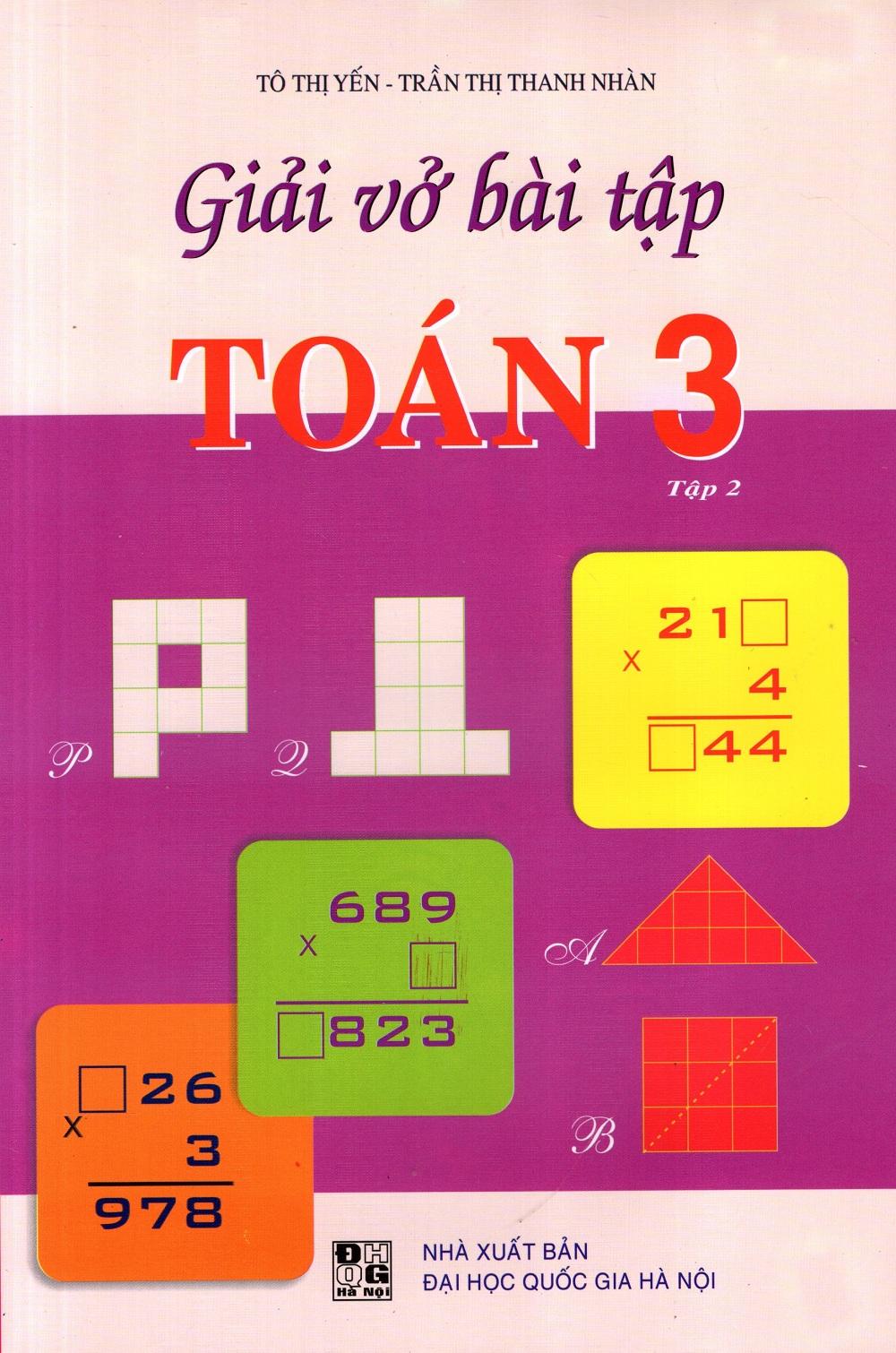Bìa sách Giải Vở Bài Tập Toán Lớp 3 (Tập 2) (Đức Trí)
