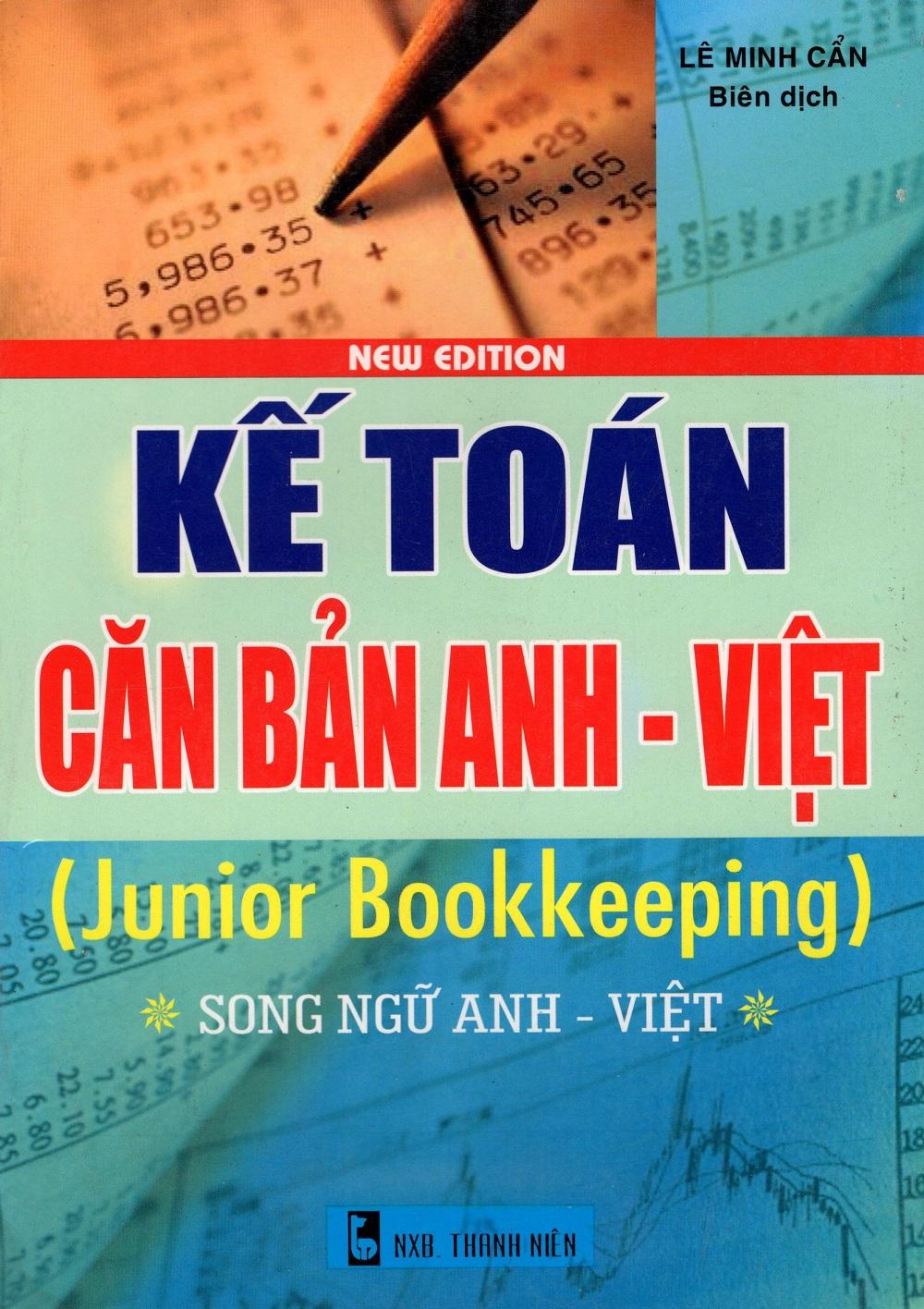 Bìa sách Kế Toán Căn Bản Anh - Việt (Junior Bookkeeping)