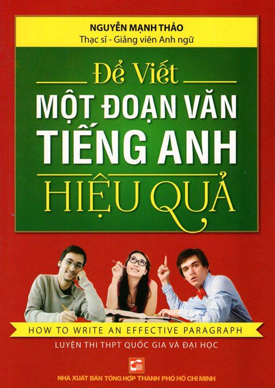 Bìa sách Để Viết Một Đoạn Văn Tiếng Anh Hiệu Quả