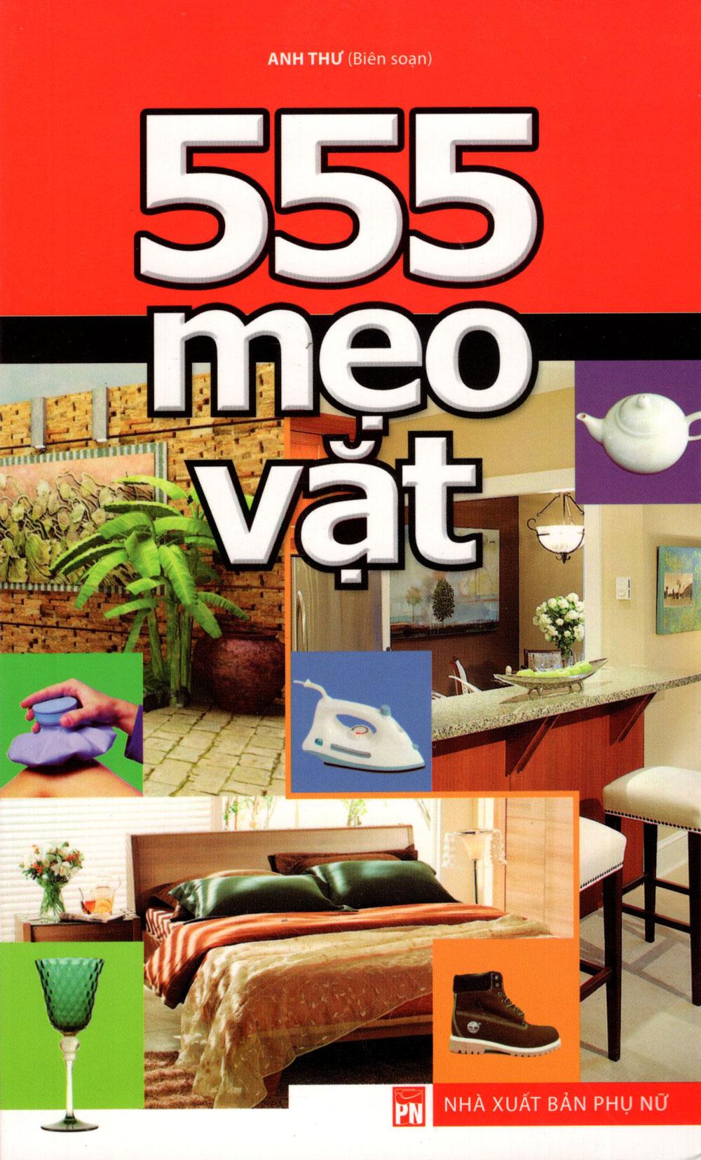 Bìa sách 555 Mẹo Vặt (Huy Hoàng)