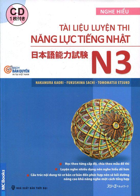 Bìa sách Tài Liệu Luyện Thi Năng Lực Tiếng Nhật N3 (Kèm CD)