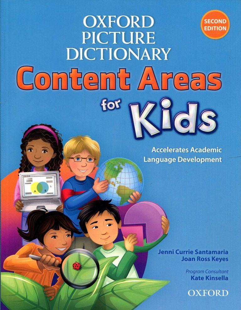 Bìa sách Oxford Picture Dictionary For Kids -  Second Edition: Monolingual English Dictionary Paperback