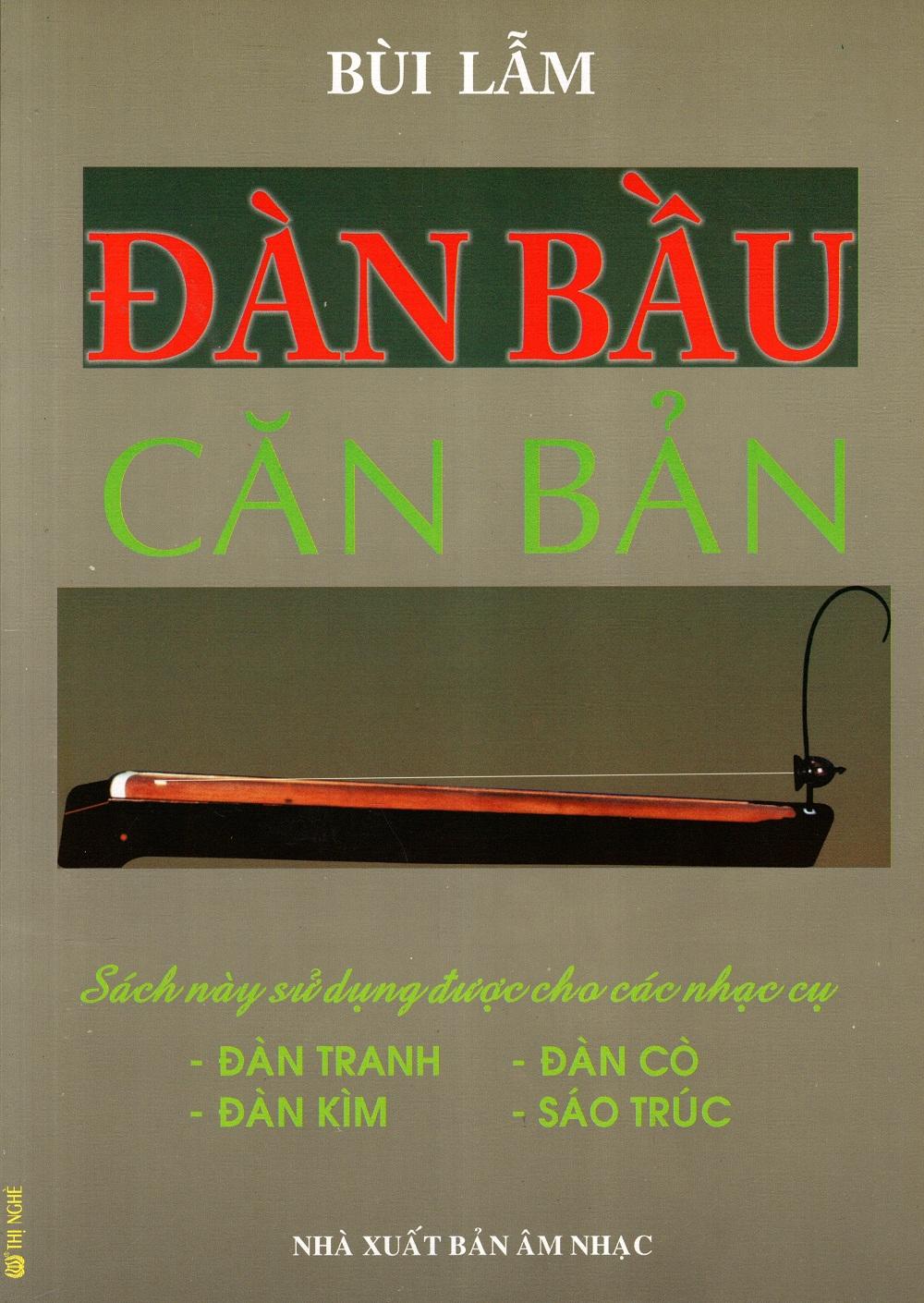 Bìa sách Đàn Bầu Căn Bản (Kèm CD)