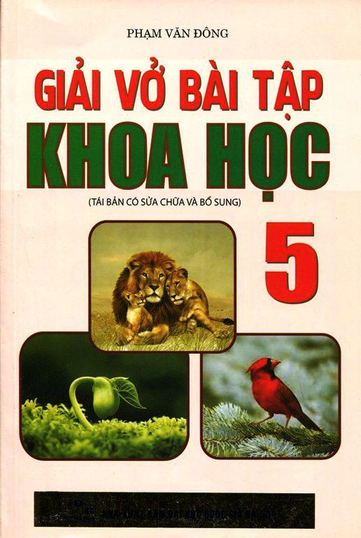 Bìa sách Giải Vở Bài Tập Khoa Học Lớp 5