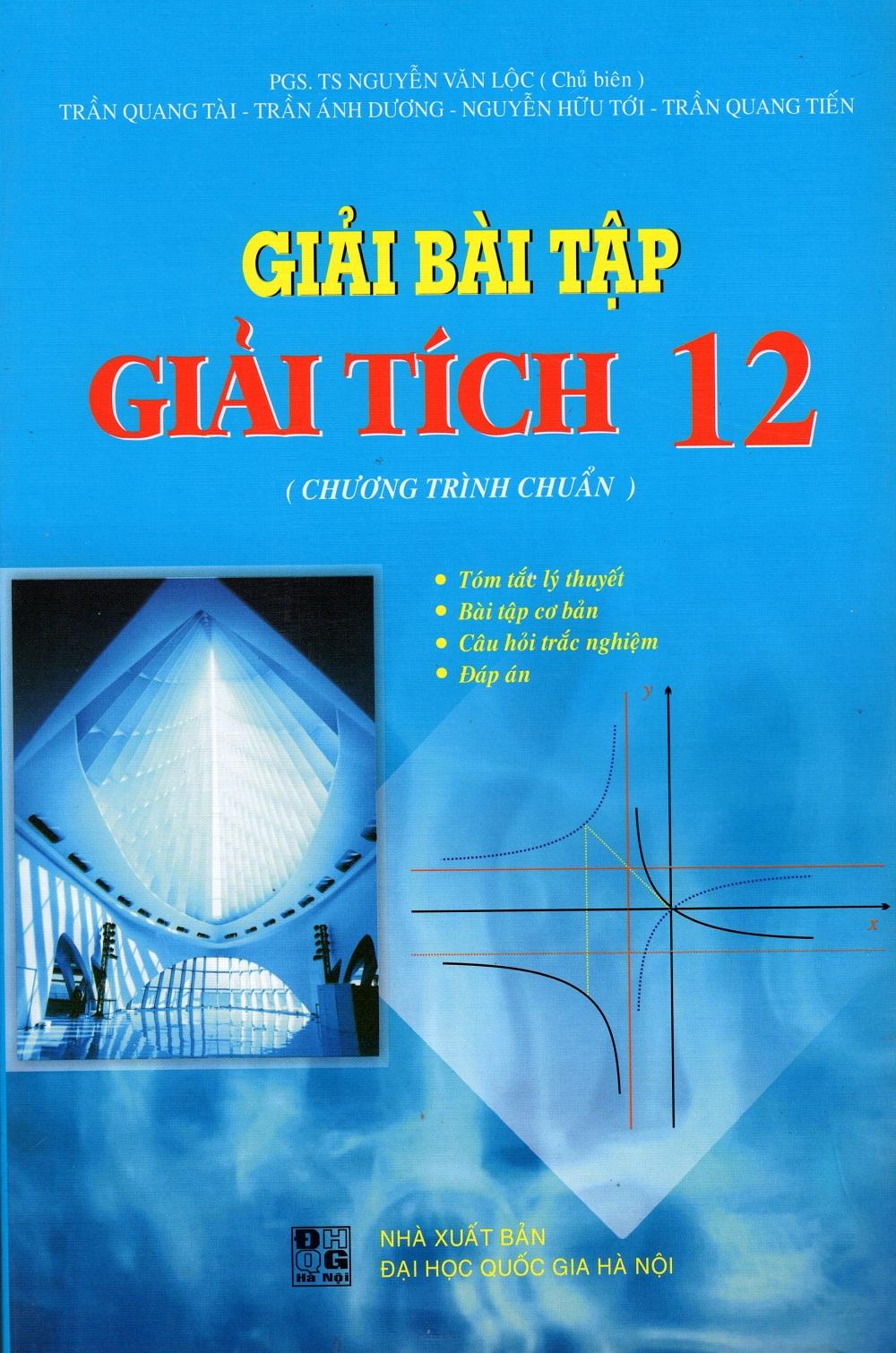 Bìa sách Giải Bài Tập Giải Tích Lớp 12 (Chương Trình Chuẩn)