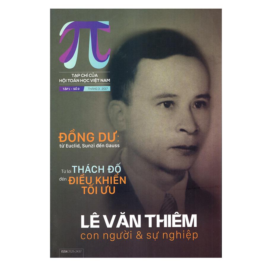 Bìa sách Pi Tạp Chí Toán học - Tháng 3/2017