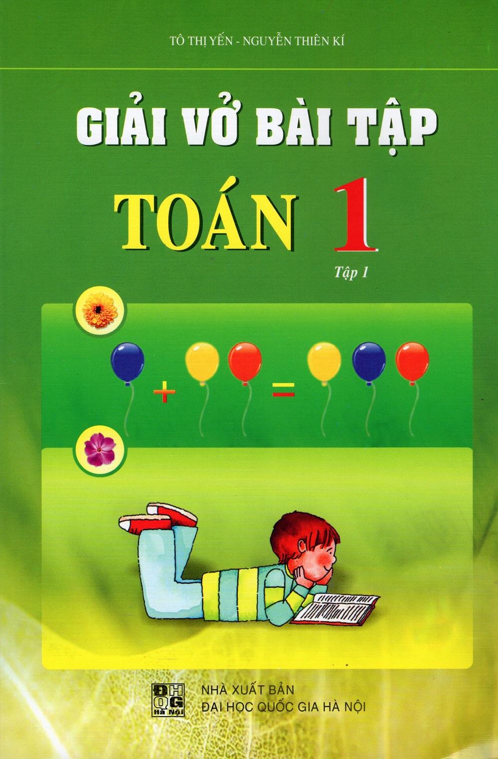 Bìa sách Giải Vở Bài Tập Toán Lớp 1 (Tập 1)