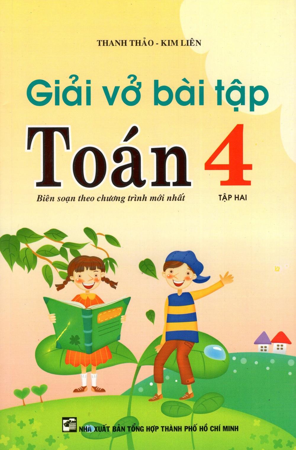 Bìa sách Giải Vở Bài Tập Toán Lớp 4 (Tập Hai)