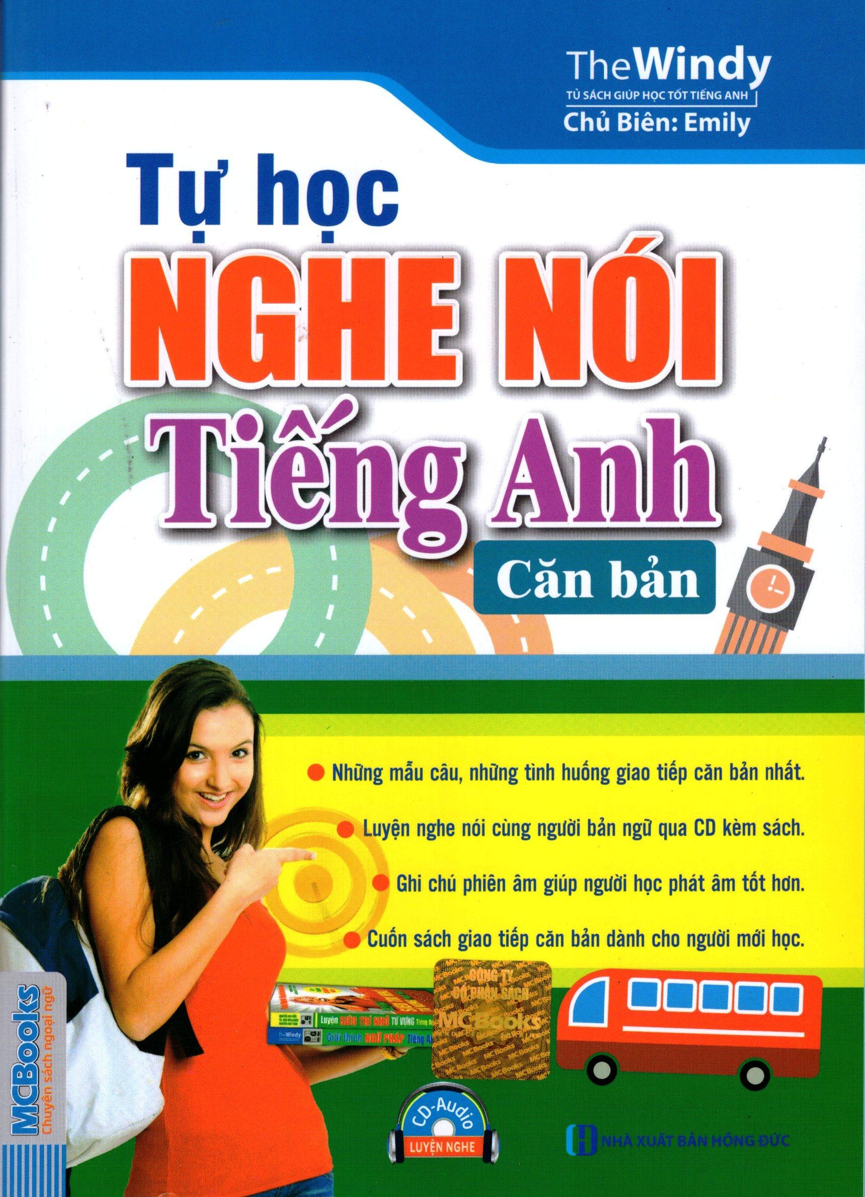 Bìa sách Tự Học Nghe - Nói Tiếng Anh Căn Bản (Kèm CD)