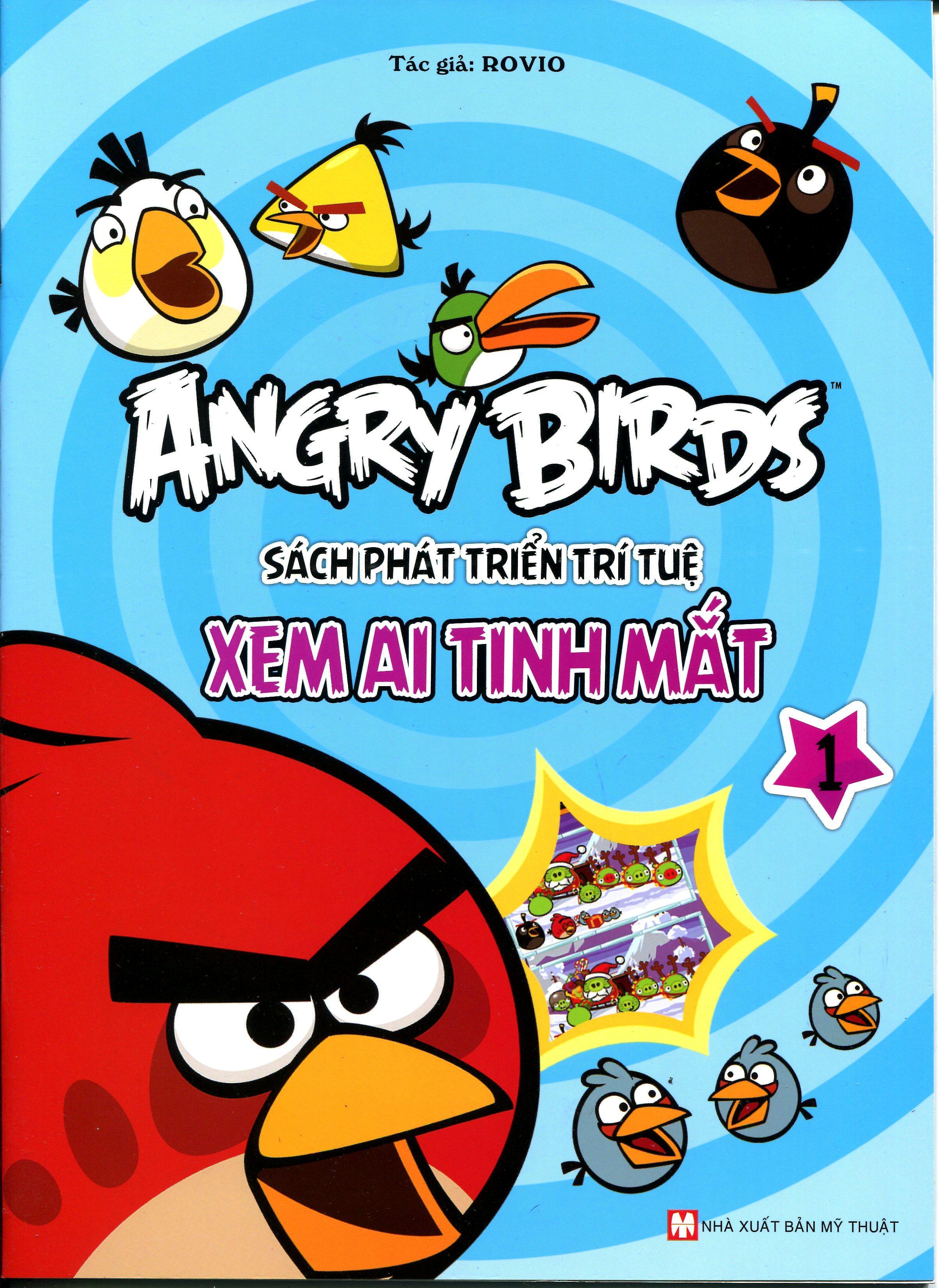 Bìa sách Angry Birds - Sách Phát Triển Trí Tuệ Xem Ai Tinh Mắt 1