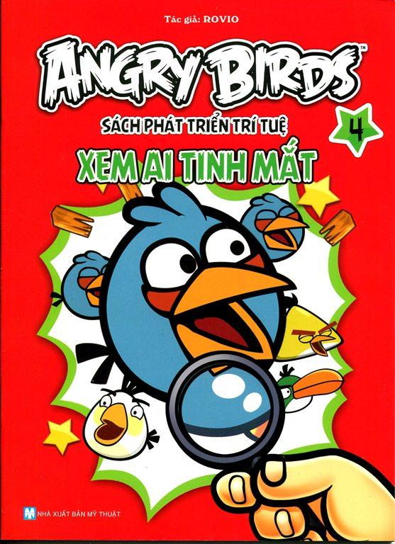 Bìa sách Angry Birds - Sách Phát Triển Trí Tuệ Xem Ai Tinh Mắt 4