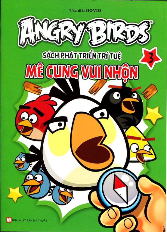 Bìa sách Angry Birds - Sách Phát Triển Trí Tuệ Mê Cung Vui Nhộn 3
