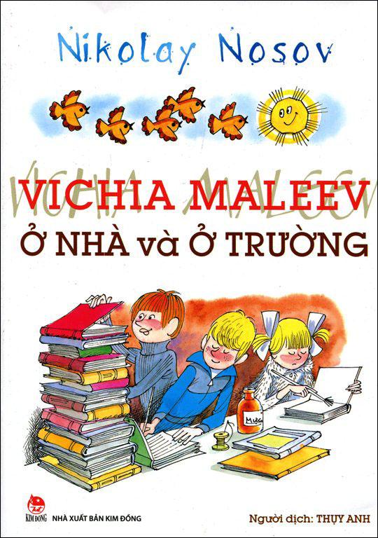 Bìa sách Vichia Maleev Ở Nhà Và Ở Trường