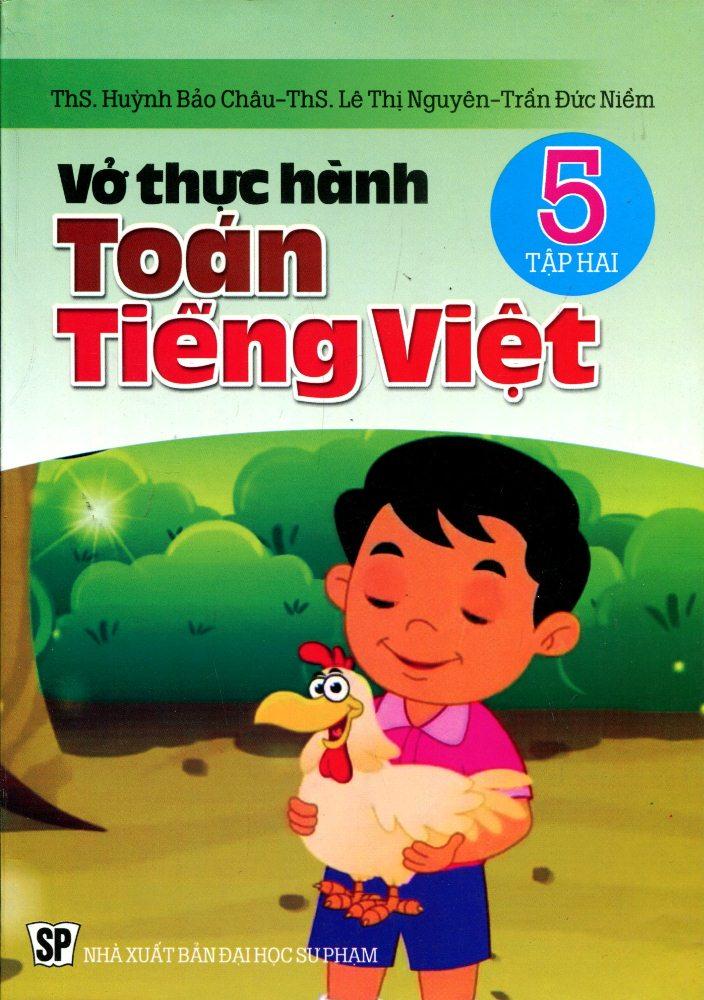 Bìa sách Vở Thực Hành Toán Tiếng Việt Lớp 5 (Tập 2)