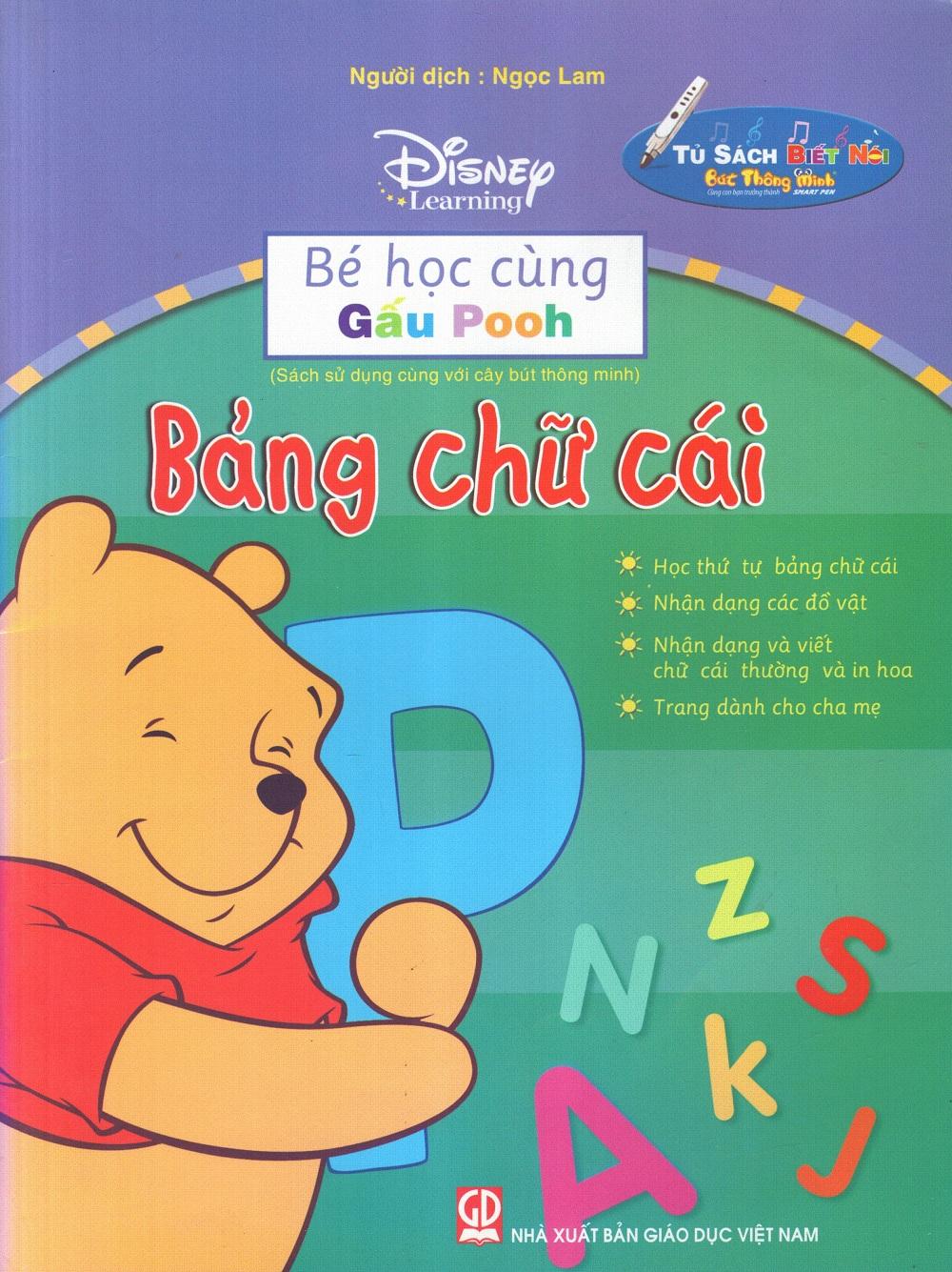 Bìa sách Bé Học Cùng Gấu Pooh: Bảng Chữ Cái