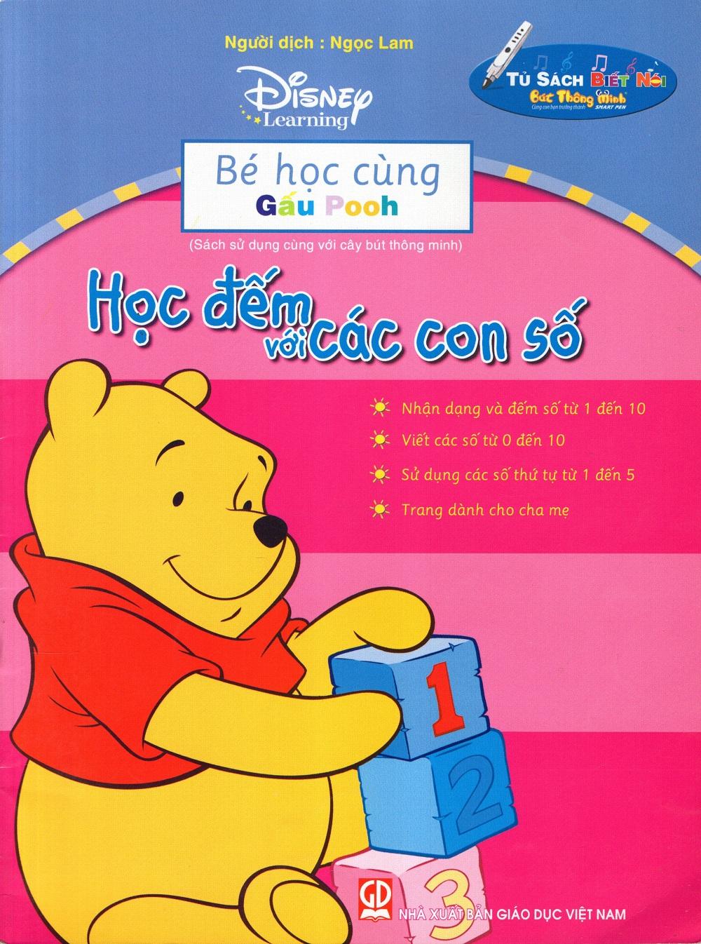 Bìa sách Bé Học Cùng Gấu Pooh: Học Đếm Với Các Con Số