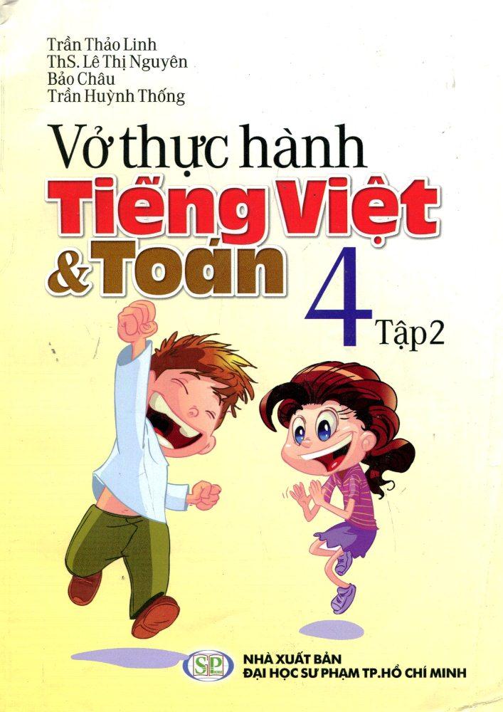 Bìa sách Vở Thực Hành Toán Tiếng Việt Lớp 4 (Tập 2)